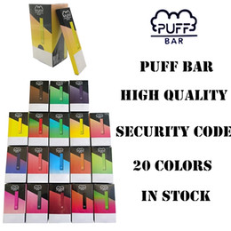 Discount new vape kits - New Puff Bar Cartridges Disposable Device Pods 20 Colors Starter Kits 280mah Battery Pod 1.3ml Empty Security Code Vape