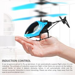 InductIon toys online shopping - Flying Helicopter Mini RC Infrared Induction Aircraft Flashing Light Drone Remote Gesture Sensing Fly Control Toys for Kid Christmas Gift