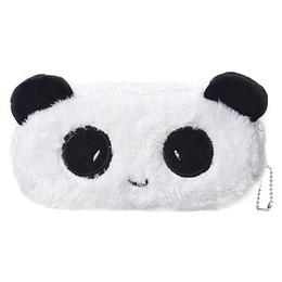 $enCountryForm.capitalKeyWord NZ - Fashion Cartoon Faux Fur Panda Pouch Storage Purse Pencil Case Pen Bag Wallet Stationery Pencilcase Makeup Cosmetic Handbag