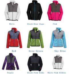 argyle jacket Australia - Women Denali Ski Fleece Jacket osito Female Fashion Pink Ribbon Fleece Coats Outdoor Sports Mountaineering apex jacket