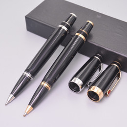 bohemia pen Australia - Wholesale Luxury Bohemia Black Resin Roller Ball Pen With Series Number MB Pen With Random Diamond Pens