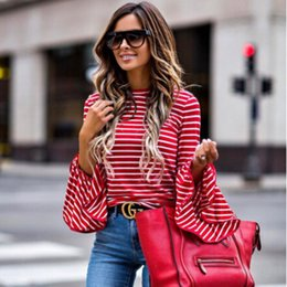 stylish ladies clothes NZ - Newest Arrivals Fashion Hot Women's Ladies Long Sleeve Shirt Loose Casual Tops Striped Stylish Style Party women Clothes
