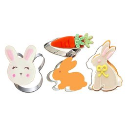 rabbit biscuits UK - Egg Rabbit Cookie Cutter For Easter Party Biscuit   Fondant   Pastry   Sandwich Cutter Stainless Steel For Easter Decoration