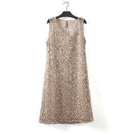Sequin Sexy Clothes UK - Plus Size Stretchable Women Sequin Sleeveless Dress Casual Dresses Party Evening Elegant Vestidos De Fest drop shipping designer clothes