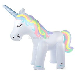 Chinese  Big Size Inflatable water unicorn toy Spray Water Unicorn children Summer Outdoor Swimming Beach Pool The Lawn Play C6478 manufacturers