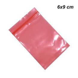 Resealable Zipper Plastic Packaging Australia - 200Pcs lot 6x9cm Red ESD Anti Static Zip Lock Plastic Bags for Data Line Electronics Charger Anti-Static Resealable Zipper Packaging Pouches