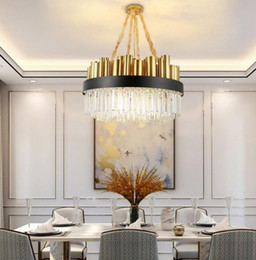 large pendant lamps Australia - LED Luxury Crystal Chandelier Lighting For Living Room Large Round Dining Room Crystals pendant Lamps Home Decoration Light Fixture MYY
