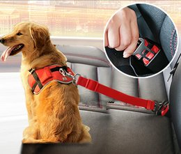 Clip Nylon Dog Collar Australia - Dog Collars Leads Vehicle Car Dog Seat Belt Pet Dogs Car Seatbelt Harness Lead Clip Safety Lever Auto Traction Products 46 A1