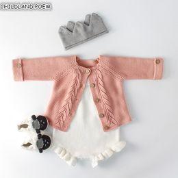 $enCountryForm.capitalKeyWord Australia - Clothes Autumn Knitted Romper Set Infant Newborn Girl Cardigan Boys Sweater Cotton Baby Jumpsuit For Girls J190526
