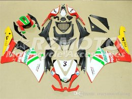 Motorcycle Fairing Kits Abs Plastic NZ - Motorcycle Fairings For Aprilia RSV4 1000 10 11 12 13 14 15 2010-2015 ABS Plastic Fairings Kit White Red F4