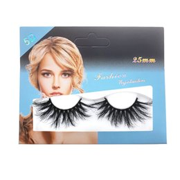 mink false eyelashes wholesale Australia - 5D Mink False Eyelashes Black Three-dimensional Thick Slender 25mm Makeup False Eyelashes Eyelash Extension Tool Eye Makeup Tool Z0301