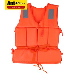 Wholesale Universal Kids Whistle Children Adult Life Vest Jacket Swimming Boat Beach Outdoor Survival Emergency Aid Safety Jacket