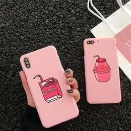 korean brand phone case Australia - Korean beverage milk for 8plus Apple xs max xr mobile phone shell iphone7p 6s 5s female models