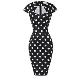 $enCountryForm.capitalKeyWord UK - Women Plus Size Pencil Dresses Rockabilly Clothing 2018 Floral Summer Casual Party Office Dress Sexy 50s Vintage Bodycon Dress J190511