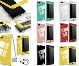 Iphone Front Yellow Australia - Factory price multi colour back and front cell phone case E276 Fashion Design For Apple iPhone X 6 7 8 Plus Flip Genuine Magnetic Case Cover