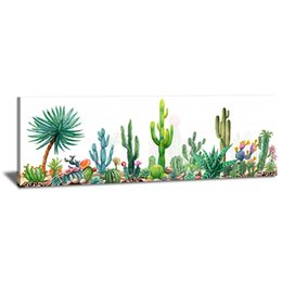 Cactus Toilet Wall Decor Tropical Desert Succulent Plants Flowers Picture Painting Canvas Prints Art for Living Room Multi Sizes No Framed on Sale