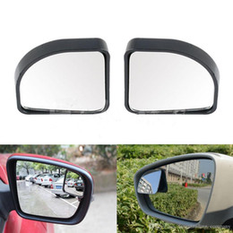 adjustable car blind spot mirror NZ - 2Pcs Auto Car Adjustable Side Blind Mirror Rearview Blind Spot Rear View Auxiliary Mirro Free Shipping
