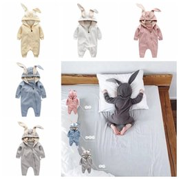 romper infant Australia - Newborn Boys Girls Baby Rompers Rabbit Ears Newborn Onesies Clothing Zipper Hooded Toddler Romper Infant Bodysuit Jumpsuits Clothes RRA2206