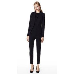 $enCountryForm.capitalKeyWord UK - Black Womens Business Suits Ladies Office Uniform Female Trouser Suits Slim Fit Fashion 2 Piece Set