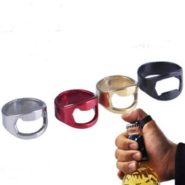 Wholesale New Stainless Steel Ring Bottle Opener Creative Beer Bottle Opener Finger Ring Bottle Opener Kitchen Too