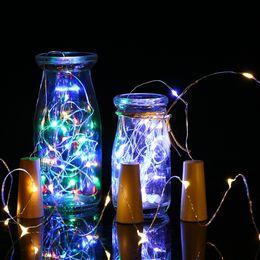 Wine bottle decorations for Weddings online shopping - 20 Led m Copper Wire String Light Mini Fairy Night Light Bedroom Lamp Wine Bottle Cork Lights for Wedding Party Decoration