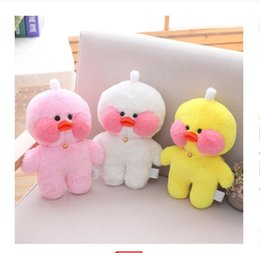 Cafe Cloth Australia - 30cm Adorable Lalafanfan Yellow Blue Duck Plush Toy Stuffed Animal Toy Cafe Mimi Toy For Fans Valentine Gift
