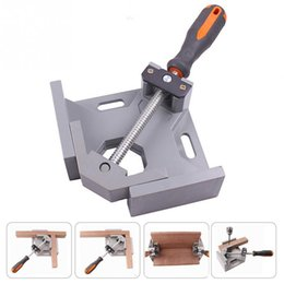 Angle Clamps Australia - Aluminum Single Handle 90 Degree Right Angle Clamp Angle Clamp Woodworking Frame Clip Right Angle Folder Tool