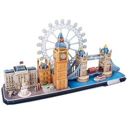 Discount model cities - Classic Jigsaw City The London Eye Big Ben Puzzle Enlighten Construction Brick Educational Toys Scale Style Models Sets