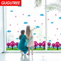 Clouds art modern painting online shopping - Decorate Home trees cloud cartoon art wall sticker decoration Decals mural painting Removable Decor Wallpaper G