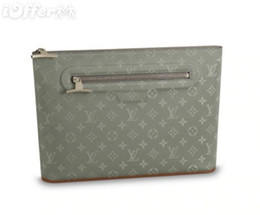 $enCountryForm.capitalKeyWord UK - M63240 Men Pochette Cosmo Zip Titanium Clutch Purse Bag Wallet Purse Belt Bags Mini Bags Clutches Exotics