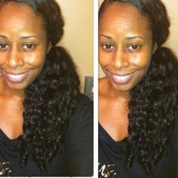 Drawstring ponytail hair extensions online shopping - Low curly african american drawstring ponytail hair extension pc g side part women black hair ponytails human hair