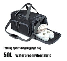 basketball weights NZ - Folding Light weight Gym Bag Multifunction exercise gym bag large capacity training yoga hand luggage Dry wet depart