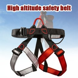 Discount harness belt men Safety Belt Rock Climbing Harness Professional Waist Support for Outdoor Sports SMN88