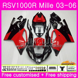 $enCountryForm.capitalKeyWord NZ - Body For Aprilia RSV1000R Mille RSV1000 R RR 03 04 05 06 Bodywork 38HM.8 RSV1000RR RSV 1000 2003 2004 2005 2006 03 06 Fairing Glossy red