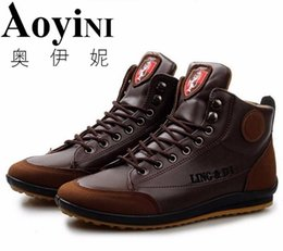 $enCountryForm.capitalKeyWord Australia - Men Shoes Casual Men 2016 Autumn Winter Boots Breathable Leather Ankle Boot For Men Luxury Zapatos Hombre Size