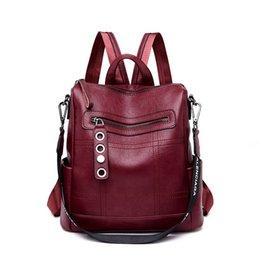Soft Back Packs Australia - 2019 New Fashion Women Backpacks Leather Female Travel Shoulder Bags for Women Back Pack Soft Bagpack Mochila #252275