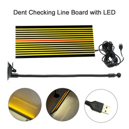 dent board Australia - Paintless Dent Repair Tool Removal Checking Reflector Line Board with LED Light