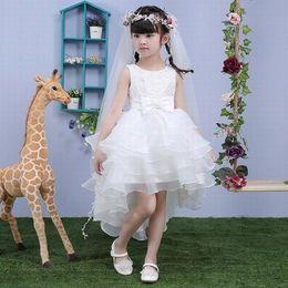 $enCountryForm.capitalKeyWord Australia - New White Charming Princess Girls Party Prom Birthday Wedding Kids Formal Flower Girl Dress Beautiful Children Dress ST128