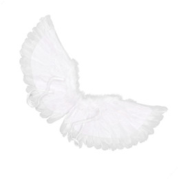 carnival decorations for party NZ - LaLa Children's White Feather Angel Wings for Dance Party Cosplay Costume Stage Show Masquerade Carnival Holiday Fancy Dress