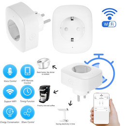 Power Socket Eu Australia - Mini Smart WiFi Socket EU Plug with Timer Home Switch APP Remote Control for Android iOS Phones Voice Control Power Sockets