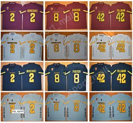 foster jerseys NZ - NCAA Arizona State Sun Devils Pat Tillman Jersey Men Red Black Gray 2 Mike Bercovici 8 DJ Foster College Football Jerseys Men