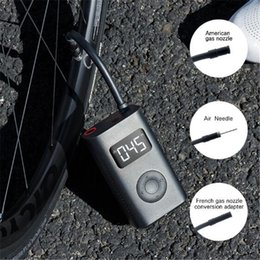 Toptan satış 2021 Hızlı Gemi Xiaomi Youpin Elektrikli Şişirme Pompası Taşınabilir Akıllı Dijital Lastik Basıncı Tespit İçin Bisiklet Motosiklet Otomobil Futbol