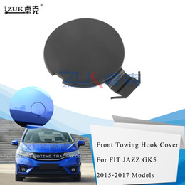 car for honda fit NZ - ZUK Auto Car Front Bumper Towing Hauling Hook Cover Cap Case For HONDA FIT JAZZ GK5 2015 2016 2017 OE# 71104-T5H-H00 Base Color