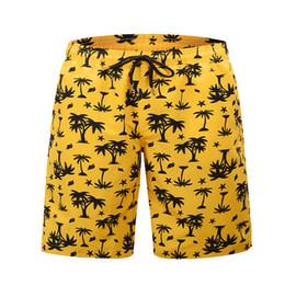 $enCountryForm.capitalKeyWord Australia - Summer Yellow Board Shorts Beach Surfing Swimwear Fitness Bodybuilding Swimming Trunks Coconut Tree Men's Bathing Suit