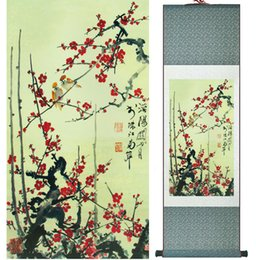 $enCountryForm.capitalKeyWord Australia - Traditional Birds And Flower Painting Home Office Decoration Chinese Scroll Painting Spring Ink Wash Painting042406