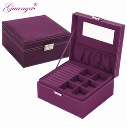 styling earring NZ - guanya brand style 4 color practical flannel jewelry box jewelry display earrings necklace pendant Storage Container case Gift T191221