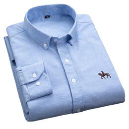 Men S Shirts Fabric Australia - S -6xl Plus Size New Oxford Fabric 100 %Cotton Excellent Comfortable Slim Fit Button Collar Business Men Casual Shirts Tops