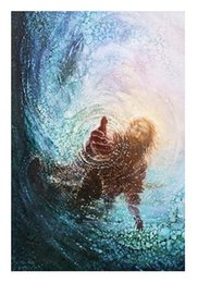 $enCountryForm.capitalKeyWord NZ - Yongsung Kim HAND OF GOD High quality HD Print Classic Portrait Wall art oil painting Jesus Stretches Forth Hand in Water On canvas