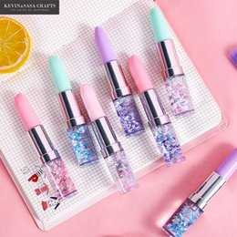 Stationery Australia - 1Pc Lipstick Shape Glitter Gel Pen Stationery Gel Pens Office Suppliers Office And School Supplies School Tools Pens For Writing