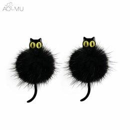 Earrings 1 Pc 2019 New Arrival 3d Imitation Pearl Kitty Cat Cute Stud Earrings Set For Women Girl 9 Colors Free Shipping Stud Earrings